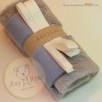 เซตผ้าขนสั้นสำหรับเย็บตุ๊กตาหมี - โทนสีเทา gray