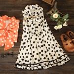 [Preorder] เดรสคลุมท้องสำหรับว่าที่คุณแม่แขนกุดลายจุด สีขาว Hot models 2013 Korean version of the dress, the new Korean version of spring and summer maternity dress code chiffon pregnant women skirt summer