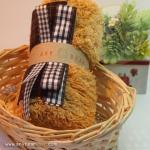 เซตผ้าขนปุยสำหรับเย็บตุ๊กตาหมี - โทนสีน้ำตาล Terra Cotta