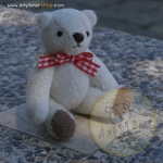 ตุ๊กตาหมีผ้าขนหนูสีครีมขนาด 10 cm. - Muffin