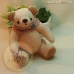 ตุ๊กตาหมีสีครีมขนาด 16 ซม. - DoBear