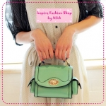 [Preorder] กระเป๋าแฟชั่น Retro ใบเล็กสีเขียว the Mahogany Shop bags 2012 new tide handbags Korean retro little shoulder bag Messenger bag