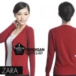 """Free size- เสื้อคลุมแขนยาวZara สีแดงเลือดหมู ผ้านิ่มมากกก อันนี้ นำเสนอ จ้า สวยใส่สบาย อก 36"""" ยาว 23"""" (เสื้อคลุมพร้อมส่ง)"""