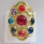 แหวนพลอยมณีใต้น้ำ(เพชรพญานาค)นพเก้าเนื้อทองเหลือง(ทุกราศี)เบอร์7ค่ะ