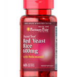 Puritan's Pride Red Yeast Rice & Policosanol 600 mg/10 mg / 60 Capsules