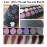 เครื่องสำอาง Sleek Makeup I-Divine Eyeshadow Palettes #Vintage Romance Palette อายแชโดว์สีสวยเนื้อประกายชิมเมอร์แวววาว ผสมกับเนื้อแมท 1 สี ให้สีสันในการแต่งหน้าสไตล์วินเทจ โทนสีหวานอบอุ่น