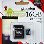 Kingston MicroSD 16GB (Class10) 80MB/10MB (Synnex/ABT)
