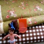 ผ้าจัดเซตผ้า cotton สั่งจากUSA ขนาด 1/8 หลา+ cottonลายจุดหาในไทย ขนาด1/4 m