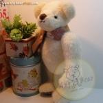 ตุ๊กตาหมีผ้าขนสั้นสีครีมขนาด 23 cm. - Mashmallow
