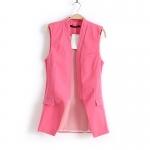 [Preorder] เสื้อกั๊กแฟชั่นสไตล์ยุโรป แบรนด์ Zara สีชมพู zara new European and American women's vest 2013 Slim candy-colored stitching vest waistcoat jacket suit models