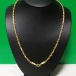 สร้อยคอทองเส้นใหญ่ลายผ่าหวายทำจากเหรียญ25,50ส.ต(ใส่พระได้ 1 องค์)ค่ะ