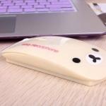 Rilakkuma wireless mouse เม้าส์ไร้สาย 2.4 GHz/ Korilakkuma (ไม่มีกล่องบรรจุ)