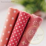 เซตผ้าฝ้ายโทนสีชมพู(1/8 หลา ) 3 ชิ้น