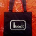 พร้อมส่งค่ะ original Harrods small handbag ปักสีทอง