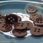 กระดุมขนาดเส้นผ่านศูนย์กลาง 12 mm. - Chestnut Brown
