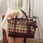 [Preorder] กระเป๋าสะพายข้างลายตารางประดับโบว์เก๋ๆ สีเขียว Beauty new wave of female bag sweet plaid bow handbag female bag Post