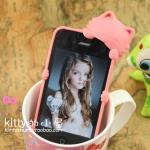Kiki Kitten ลายแมวเกาะหลัง สีชมพูเข้ม