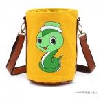 [Preorder] กระเป๋าสะพายข้างลายสัตว์ประจำปีนักษัตร ลายงูเล็ก (ปีมะเส็ง) North bag 2013 Korean version of the original cartoon Zodiac constellation pattern leisure Shoulder Messenger bag
