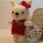 ตุ๊กตากระต่ายถัก ขนาด 8.5 cm. Benny(white)