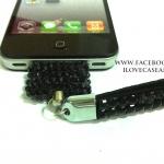สายคล้อง iPhone สีดำ