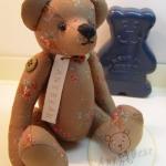 ตุ๊กตาหมีผ้าฝ้ายสีน้ำตาลขนาด 20 cm. - Poppy
