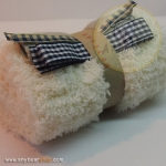 เซตผ้าขนปุยสำหรับเย็บตุ๊กตาหมี - โทนสีขาว off white