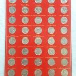 สินค้าหมดค่ะ แผงเหรียญ 2 บาท ครบชุด พร้อมคำอธิบาย(แผงสีแดง)ค่ะ