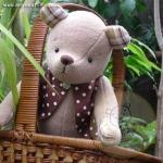 ตุ๊กตาหมีผ้าสีน้ำตาลขนาด 30 cm. - PomPom