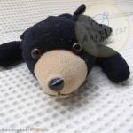 หมีนอน (ดำ) สูง 21 ซม.