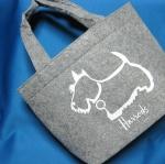 Harrods white label felt bag จากนิตยสาร JJ November issue