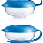 กล่องใส่อาหารว่าง MAM bpa free สีฟ้า ชุดถ้วยจานชามป้อนอาหารเด็กอ่อน หรือเด็ก 6 เดือนขึ้นไป MAM Thailand (ของใช้เด็กอ่อน)
