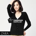 """Free size- เสื้อคลุมแขนยาวZara สีดำ ผ้านิ่มมากกก อันนี้ นำเสนอ จ้า สวยใส่สบาย อก 36"""" ยาว 23"""" (เสื้อคลุมพร้อมส่ง)"""