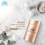 New 2018 - Anessa Perfect UV Sunscreen Skincare Milk SPF 50+ PA++++ 60ml. ปกป้องผิวจากแสงแดดเต็มที่ในทุกวัน กับครีมกันแดดอันดับ 1 จากญี่ปุ่น 17 ปีซ้อน! ด้วยสูตรน้ำนมเนื้อบางเบาสำหรับผิวหน้าและผิวกาย เติมความชุ่มชื้นดูแลผิวที่โดนทำร้ายจากแสงแดดได้ดีเยี่ยม
