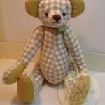 ตุ๊กตาหมีผ้าฝ้ายสีน้ำตาล ขนาด 19 cm. - Pearly