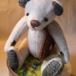 ตุ๊กตาหมีผ้าวูลท์สีเทาขนาด 19 cm. - Lilac