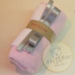 เซตผ้าขนขอดสำหรับเย็บตุ๊กตาหมี - โทนสีชมพู light pink