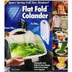 ลดราคาสุด ๆ Home Studio ตะกร้าล้างผัก Flat Fold Colander - White