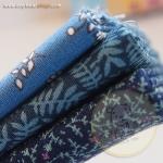เซตผ้าฝ้ายโทนสีน้ำเงิน (1/8 m.) 3 ชิ้น