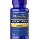 Puritan's Pride Melatonin 3 mg / 240 Tablets สำเนา