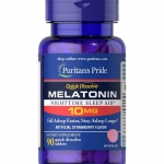 Puritan's Pride Quick Dissolve Melatonin 10mg Strawberry Flavor / 90 Tablets สำเนา