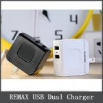 REMAX Quick Charger Dual USB 3.4A - (Black)