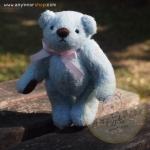 ตุ๊กตาหมีผ้าขนสีฟ้าขนาด 12 cm. - Bess