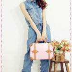 จั๊มสูทแขนกุดยีนส์ขายาว Spring and summer of 2012 the new Women Korean, Japanese fashion, waist light blue denim coveralls pants trousers