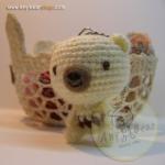 ตุ๊กตาหมีถักขนาด 5.5 cm. - BallBear (white)