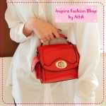 [Preorder] กระเป๋าแฟชั่น Retro ใบเล็กสีแดง the Mahogany Shop bags 2012 new tide handbags Korean retro little shoulder bag Messenger bag