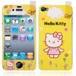 ฟิล์มหน้าหลัง ลาย Kitty สีเหลือง (iphone4/4s)