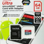 MicroSD Sandisk Ultra 64GB 100MB/s ประกัน Synnex 10ปี