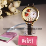 [Preorder] นาฬิกาข้อมือประดับเต่าทองและดอกไม้ The genuine MINI of power transmission Japan Fimo hand for watch female form the autumn and winter limited Beetle