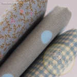 เซตผ้าฝ้ายโทนสีฟ้า-เทา (1/8 หลา ) 3 ชิ้น