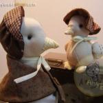 ตุ๊กตาเป็ดคันทรี่แม่ลูก ขนาด 14 cm.- แม่ ขนาด 6.5 cm.- ลูก Happyduck